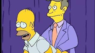 Гомер симпсон жестко трахает жительниц спрингфилда здоровым хером