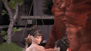 Рогатый сатана вжарил японских близняшек по окончании двойного минета