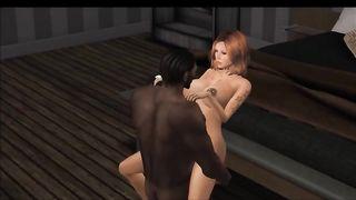 Мулат пронзает фаллосом писю танцовщицы с грудями пробитыми пирсингом